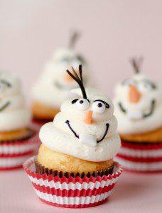 Frozen-Olaf-Snowman-Cupcakes